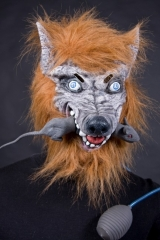 Werwolf Wolf Maske mit Ratte Karneval Halloween Party