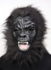 Gorilla Affe Vollkopfmaske Karneval Fasching Halloween