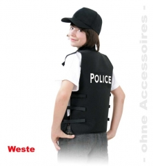 Weste Police Kinderweste Polizeiweste Polizist Kinderkostüm Faschingsp