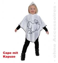 Kleiner Geist Cape mit Kapuze Halloween Faschingskostüm Kinderkostüm