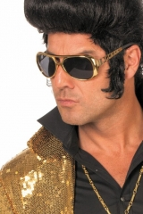 Retrobrille Elvisbrille 70er Jahre Mottoparty Partybrille