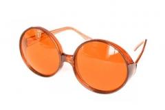 70er 80er Brille große runde Gläser Hippie Fasching