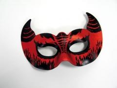 Augenmaske Pailletten-Domino mit Federn Karneval Party