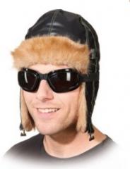 Fliegerbrille mit Band Ali G. Brille schwarz