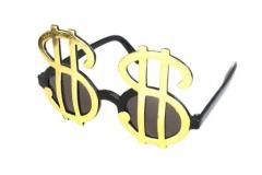 Brille Dollarzeichen Accessoires Fasching Karneval