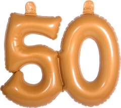 Dekoration Aufblasbare Zahl 50 Goldhochzeit Geburtstag
