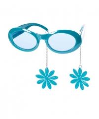 Brille mit Ohrringen Faschings Accessoires Party Zubehör Karneval