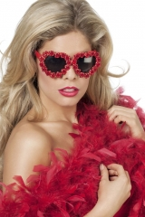 Blumenbrille Partybrille Herzchenbrille Flower Power Schlagerparty 70e