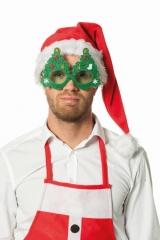 Tannenbaumbrille blinkend Nikolaus Weihnachtsmann Partybrille