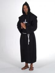 Pater luxus schwarz Mönch Geistlicher Karneval Fasching