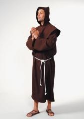 Pater luxus braun Mönch Geistlicher Karneval Fasching