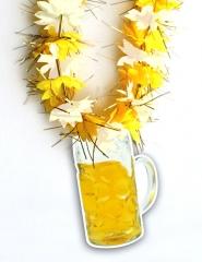 Blütenkette Bier gelb weiß Oktoberfest Partyspass