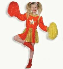 Cheerleader Kostüm Kinder mit Pompons Karneval Fasching Gr.116