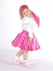 Rock Pink mit Punkten, Kinderkostüm,Kinderfasching