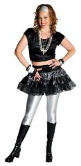 80er Jahre Rock schwarz Damenrock Partyrock Faschingsrock