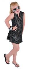 Pailletten Kleid Kinderparty Discokleid Faschingskostüm Mädchenverklei