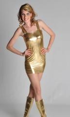 Stretch Mini Kleid Partykleid Discokleid Faschingskostüm Mottoparty