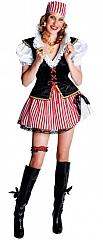 Piratin Verkleidung Seeräuberin Damenkostüm Verkleidung Faschingsparty