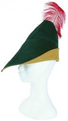 Robin Hood Hut mit Feder Jäger Mittelalter Märchen