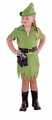Robin Mädchen grün Kinderverkleidung Kostümfest Kinderparty Verkleidun