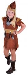 Robin Mädchen braun Fasching Fastnacht Karneval Kinderkostüm Verkleidu