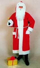 Nikolaus Weihnachtsmann Santa Claus Mantel Velour Samt O