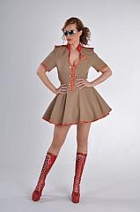 Sexy Nikita Damenkostüm Militärkostüm Verkleidung Faschingsparty
