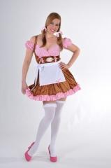 Dirndl Edelweiß Kleid mit Schürze Damenkostüm Oktoberfest bayrischer A
