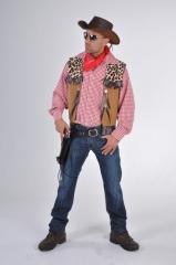 Cowboy Weste Herrenweste Wilder Westen Karnevalsweste Faschingsweste
