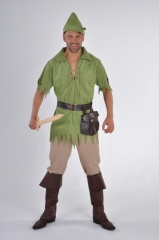 Robin grün Faschingskostüm Herrenverkleidung Hoodkostüm Karnevalskostü