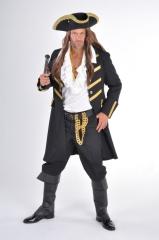 Piraten Mantel schwarz Seeräuber Mantel Kostümfest Faschingsparty