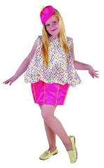 Pierrot Mädchen Kinderverkleidung Clown Faschingskostüm Kinderparty