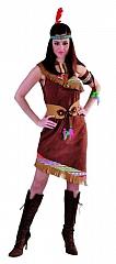 Indianerin schulterfrei Damenverkleidung Wilder Westen Karneval Squaw