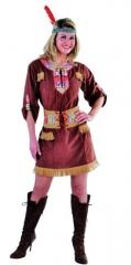 Indianerin Kleid Squaw Damenkostüm Wilder Westen Faschingskostüm