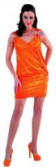 Kleid orange Damenkostüm Damenkleid Partykleid Faschingskostüm Karneva