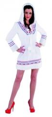 Eskimo Kleid Damenkostüm Fasching Mottoparty Verkleidung Kostümfest