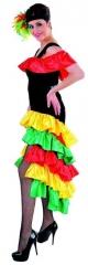 Brasil Kleid Brasilianerin Flamenco Spanierin Karneval Mottoparty