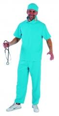 Chirurg Herrenkostüm Arzt Faschingskostüm OP Karnevalskostüm