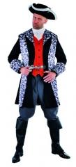 Piraten Totenkopf Herrenkostüm Verkleidung Seeräuber Faschingskostüm