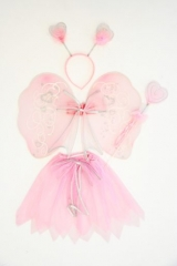 Prinzessinnen-Set mit Flügeln Fasching Karneval Motto