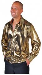 Herrenhemd Metallic Partyhemd 80er Jahre Faschingshemd Discohemd