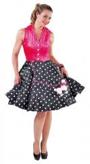 Rockn Roll Teddy Boy Rockabilly Kleid mit Pudel 60er Jahre