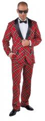 Karrierter Anzug rot Smoking Schottenmuster S bis XXL