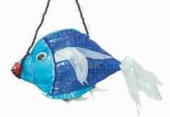 Fisch Tasche Nixe Wassermann Handtasche Karneval Fasching