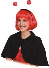 Cape mit Kapuze schwarz Faschingscape Damencape Karnevalscape