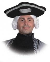 Dreispitz mit Silberborte Zubehör Kopfbedeckung Faschingsparty Pirat