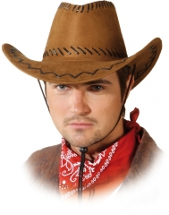 Cowboyhut Cowboy Western schwarz, braun, rot, weiß oder lila