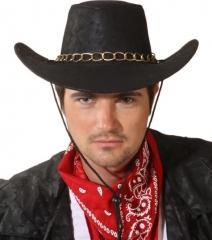 Cowboyhut Bill schwarz Wilder Westen Fasching Karneval Mottopart
