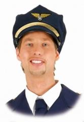 Pilotenmütze Pilot Uniform Flieger Steward Kapitän Größenverstellbar