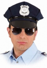 Polizeimütze Polizeikappe Polizei Police größenverstellbar